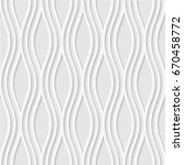 seamless pattern of wavy lines. ... | Shutterstock .eps vector #670458772