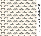 seamless pattern with crown... | Shutterstock .eps vector #670460542