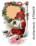 Little Girl In Christmas Bonne...
