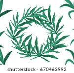 round frame made of hand drawn... | Shutterstock . vector #670463992