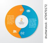 circle arrows for infographics. ... | Shutterstock .eps vector #670470172
