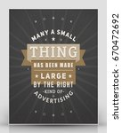 vintage inspirational and... | Shutterstock .eps vector #670472692