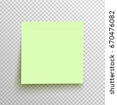 green sticky note isolated on a ... | Shutterstock .eps vector #670476082