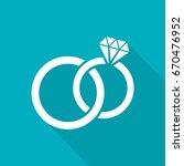 white vector wedding rings flat ... | Shutterstock .eps vector #670476952