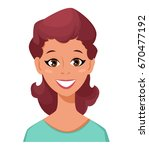 face expression of a woman  ... | Shutterstock .eps vector #670477192