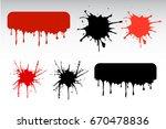 flow down set vector. splash... | Shutterstock .eps vector #670478836