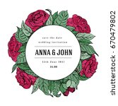wedding invitation  thank you... | Shutterstock .eps vector #670479802