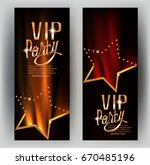 vip party  invitation cards ... | Shutterstock .eps vector #670485196