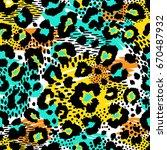 Seamless Leopard Wild Pattern....