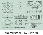 calligraphic design elements... | Shutterstock .eps vector #67049578