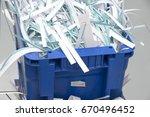shredded documents | Shutterstock . vector #670496452