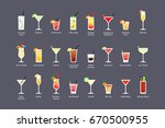 most popular alcoholic... | Shutterstock . vector #670500955
