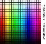 color spectrum palette  hue and ... | Shutterstock . vector #670501012