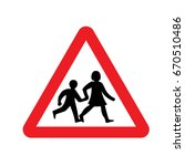 uk children sign | Shutterstock .eps vector #670510486