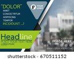 blue and green flyer cover... | Shutterstock .eps vector #670511152