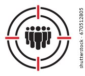 target audience vector icon | Shutterstock .eps vector #670512805