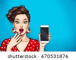 attractive sexy girl with phone ...   Shutterstock . vector #670531876
