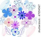seamless flower background  eps ... | Shutterstock .eps vector #67054567