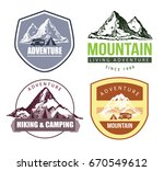 camping and outdoor activity... | Shutterstock .eps vector #670549612