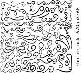 vector hand drawn decorative... | Shutterstock .eps vector #670558768
