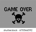 embroidered word game over...   Shutterstock .eps vector #670566592