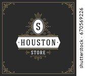 ornament logo design template...   Shutterstock .eps vector #670569226