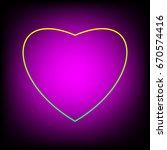 heart iconr. love symbol.... | Shutterstock .eps vector #670574416