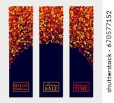 vector fall banners set with... | Shutterstock .eps vector #670577152