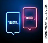 neon sign speech bubble. vector ... | Shutterstock .eps vector #670577335