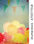 many colorful baloons in the... | Shutterstock . vector #670577518