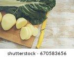 potatoes and mangold | Shutterstock . vector #670583656