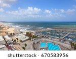 mediterranean seaside of tel... | Shutterstock . vector #670583956