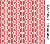 red striped rhombuses on white... | Shutterstock .eps vector #670584046