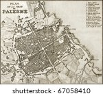 an old map of palermo  the main ...   Shutterstock . vector #67058410