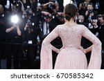 cannes  france   may 21  sonam... | Shutterstock . vector #670585342