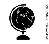 earth globe icon | Shutterstock .eps vector #670590466