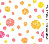seamless pattern with color... | Shutterstock .eps vector #670591762