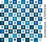 vector logo globe | Shutterstock .eps vector #670592146