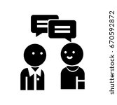 conversation persons icon | Shutterstock .eps vector #670592872