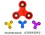 hand spinner. children's toy. ... | Shutterstock .eps vector #670593592
