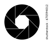 shutter icon | Shutterstock .eps vector #670594012