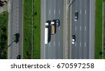 aerial view of expressway ... | Shutterstock . vector #670597258