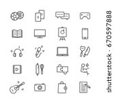 hobbies icon set on white...
