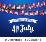 july fourth. 4th of july... | Shutterstock .eps vector #670600846