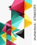 triangular low poly vector a4... | Shutterstock .eps vector #670601395