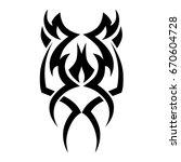 tattoo tribal isolated vector...   Shutterstock .eps vector #670604728
