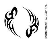 tribal tattoo art designs.... | Shutterstock .eps vector #670604776