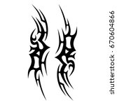 tattoo designs. tattoo tribal... | Shutterstock .eps vector #670604866