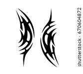tribal tattoo art designs.... | Shutterstock .eps vector #670604872