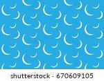 blue curves pattern  | Shutterstock .eps vector #670609105
